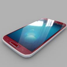 Samsung I9506 Galaxy S4 (Red Aurora Color) 3D Model
