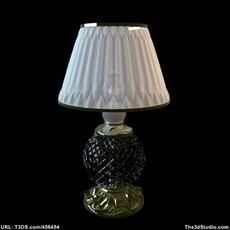 Crystal Base Table Lamp 3D Model