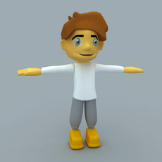 Cartoon Man or Boy Character 3D Model