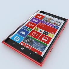 Nokia Lumia 1520 (Red) 3D Model