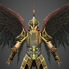 Fantasy Character Heaven Warrior 3D Model