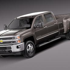 Chevrolet Silverado HD 2015 Long 3D Model