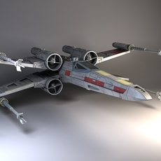 Star Wars X-Wing Fighter 3D Model