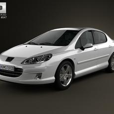 Peugeot 407 sedan 2004 3D Model