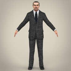 Realistic Business Man 3D Model