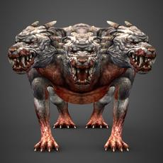 Fantasy Animal Hell Dog 3D Model