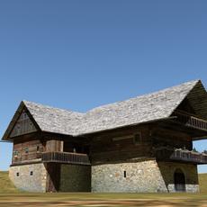 big old farm house 3D Model