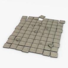 Stone floor module 3D Model