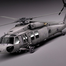 Sikorsky UH-60a Black Hawk 3D Model