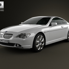 BMW 6 Series (E63) coupe 2004 3D Model