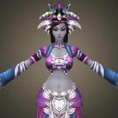 Fantasy Character Queen Balina 3D Model