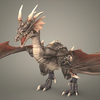 Fantasy Young Dragon 3D Model