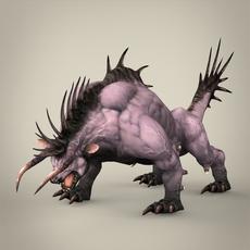 Fantasy Animal Kanjar 3D Model