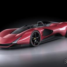 Ferrari Aliante concept 3D Model