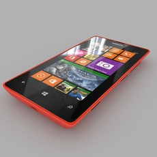 Nokia Lumia 525 Red 3D Model