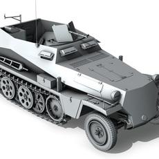 SD.KFZ.250 - Half-track troop carrier 3D Model