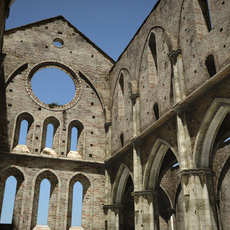 Roofless cathedral San Galgano 3D Model