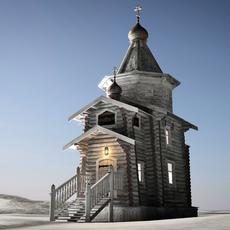 Trinity Church Antarctica 3D Model