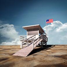Beach Lifeguard Station 3D Model