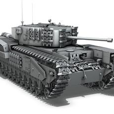 Churchill MK.IV 3D Model