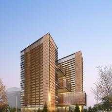 Architecture 011  -Office Skyscraper building 3D Model