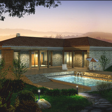 Architecture 070 -- villadom 3D Model