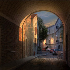 Architecture 104 -- old street 3D Model