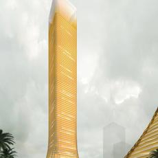 Architecture 010  -Office Skyscraper building 3D Model