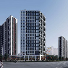 Architecture 138 High Rise Residential Building 3D Model