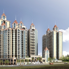 Architecture 156 High Rise Residential Building 3D Model