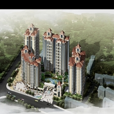 Architecture 155 High Rise Residential Building 3D Model