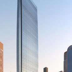 Architecture 017  -Office Skyscraper building 3D Model