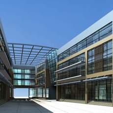 Architecture 341 office Building 3D Model
