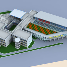 Architecture 342 office Building 3D Model