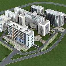 Architecture 350 office Building 3D Model