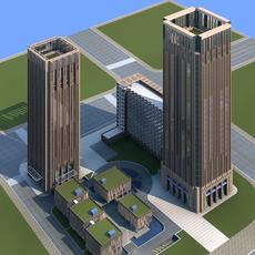Architecture 364 office Building 3D Model