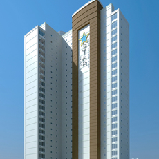 Architecture 375 office Building 3D Model