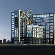 Architecture 388 office Building 3D Model