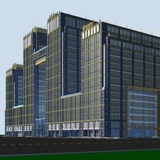 Architecture 389 office Building 3D Model