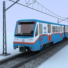 SUBURBAN TRAIN 3D Model