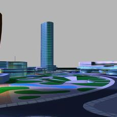 Architecture 398 office Building 3D Model