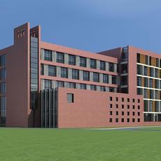 Architecture 400 office Building 3D Model