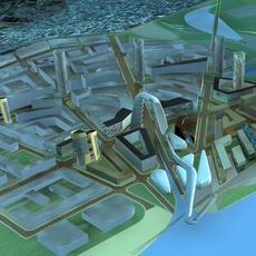 Architecture 403 office Building 3D Model