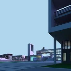 Architecture 410 office Building 3D Model