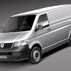Volkswagen T5 Transporter Van 2003-2009 3D Model
