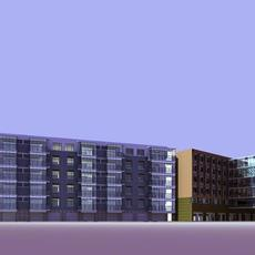 Architecture 415 High Rise Residential Building 3D Model
