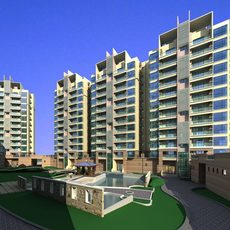 Architecture 460 High Rise Residential Building 3D Model