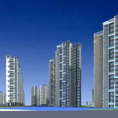 Architecture 466 High Rise Residential Building 3D Model