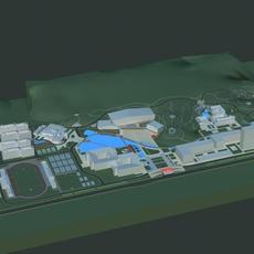 Architecture 468 office Building 3D Model