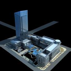 Architecture 471 office Building 3D Model